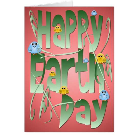 Happy Earth Day with Birds Card