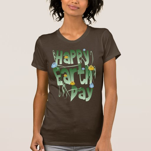 Happy Earth Day with BirdsShirt T-shirts