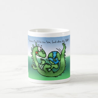 Happy Earth Day with Dinosaur Coffee Mug