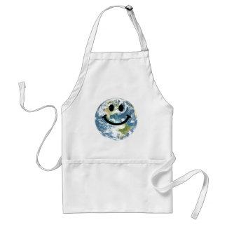 Happy Earth smiley face Apron