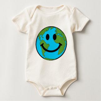 Happy Earth Smiley Face Baby Bodysuit