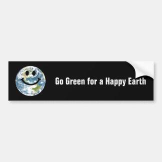 Happy Earth smiley face Car Bumper Sticker