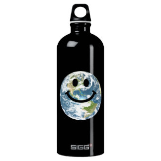 Happy Earth smiley face SIGG Traveler 1.0L Water Bottle