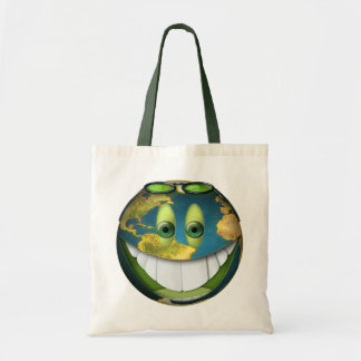 Happy Earth Smilie for Earth Day Bags