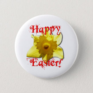 Happy Easter, 02.T Daffodils Pinback Button