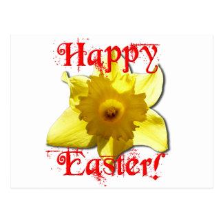 Happy Easter, 02.T Daffodils Postcard
