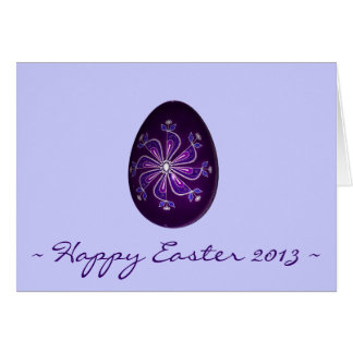 Happy Easter 2013 ~ Purple Painted Russian Egg Stationery Note Card