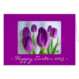 Happy Easter 2013 Tulip Card
