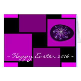 Happy Easter 2016 Painted Purple Egg Stationery Note Card