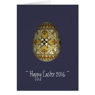 Happy Easter 2016 Russian Painted Egg Card