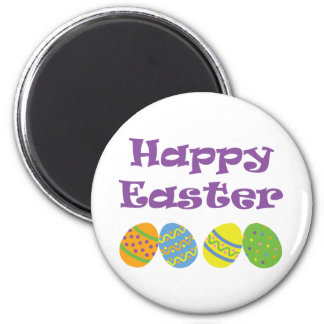 Happy Easter 2 Inch Round Magnet