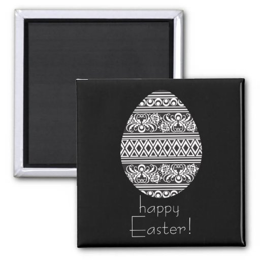 Happy Easter! 2 Inch Square Magnet