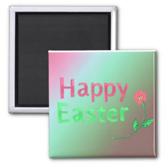 Happy Easter 2 Inch Square Magnet