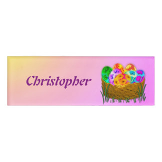Happy Easter #2 Name Tag