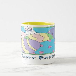 Happy Easter 2 Two-Tone Coffee Mug