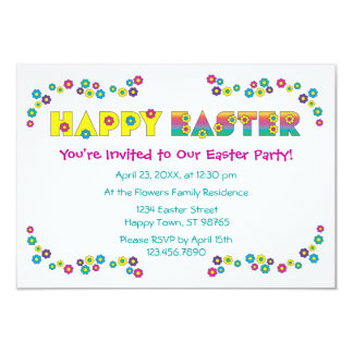 Happy Easter 3.5x5 Paper Invitation Card
