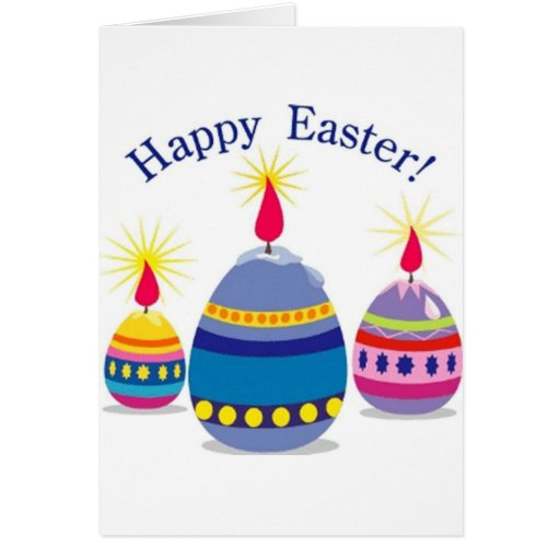 Happy Easter 3 Eggs Greeting Card
