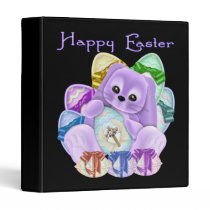 Happy Easter 3 Ring Binder