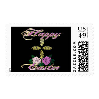 Happy Easter 4 Postage Stamps