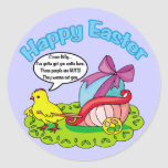 Happy Easter 5 Classic Round Sticker