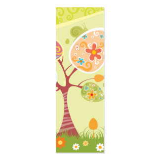 Happy Easter Abstract Bookmark Business Card Template