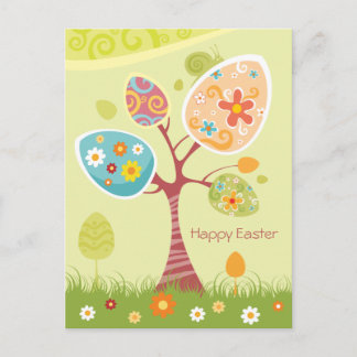Happy Easter - Abstract Tree Holiday Postcard