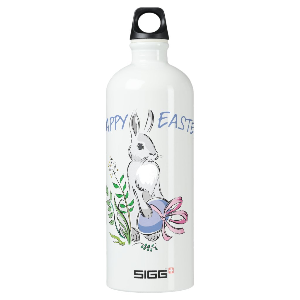 Happy Easter Aluminum Water Bottle