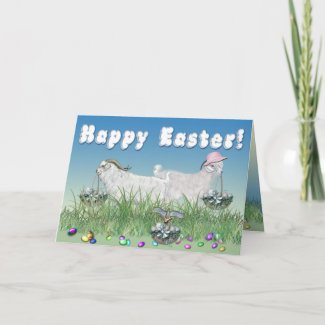 Happy Easter Angora Goats card