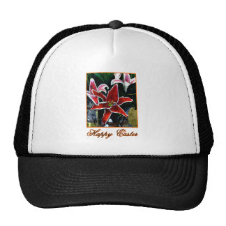 Happy Easter b Orange Tiger Lily The MUSEUM Zazzle Trucker Hat
