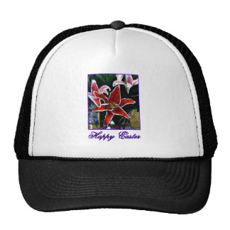 Happy Easter b Purple Tiger Lily The MUSEUM Zazzle Trucker Hat