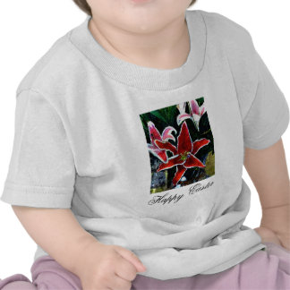 Happy Easter b White Tiger Lily The MUSEUM Zazzle T Shirt