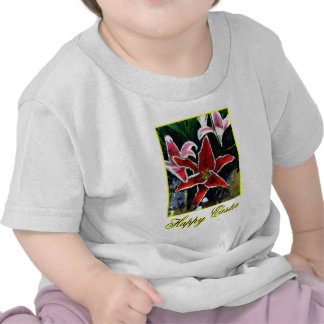 Happy Easter b Yellow Tiger Lily The MUSEUM Zazzle Tee Shirt