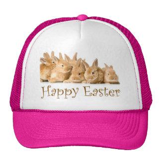 Happy Easter baby bunnies Mesh Hats