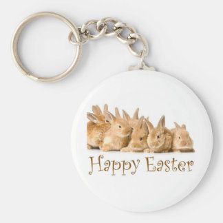 Happy Easter baby bunnies Keychain