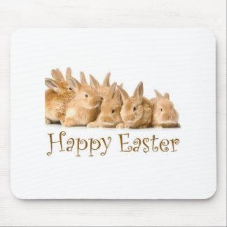Happy Easter baby bunnies Mousepad