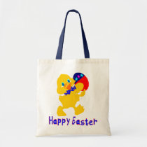 ♫♥Happy-Easter Baby-Chick Chic Budget Tote Bag♥♪