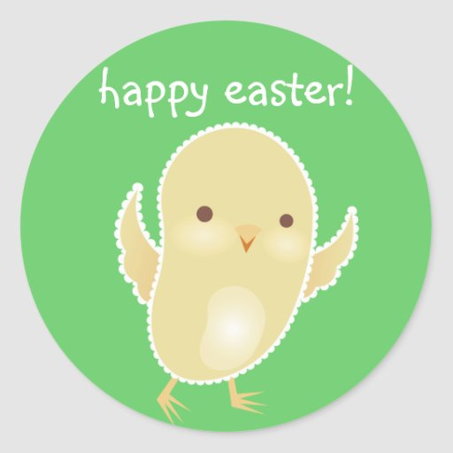 Happy Easter! Baby Chick Stickers