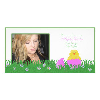 Happy Easter Baby Duck Photo Card