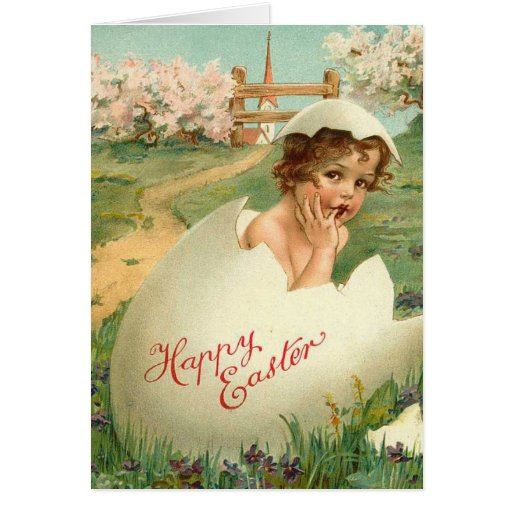 Happy Easter Baby Vintage Stationery Note Card