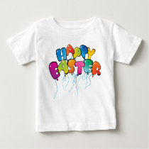 Happy Easter Balloons Baby T-Shirt