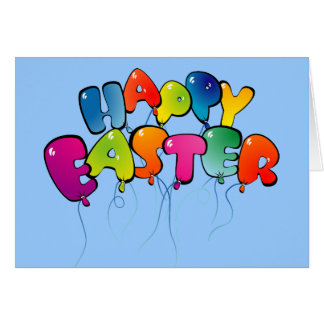 Happy Easter Balloons Card