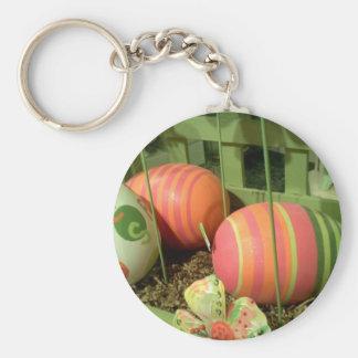 Happy Easter Basic Round Button Keychain