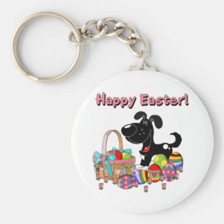 Happy Easter! Basic Round Button Keychain