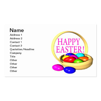 Happy Easter Basket Business Card