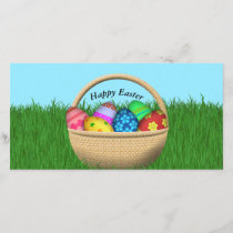 Happy Easter Basket Holiday Card