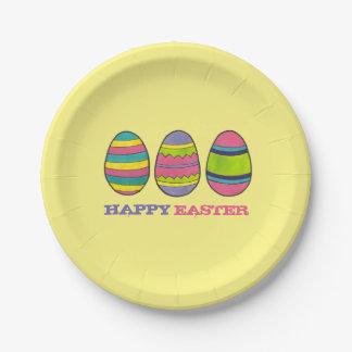 Happy Easter Basket Painted Egg Hunt Eggs Plates