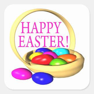 Happy Easter Basket Square Sticker