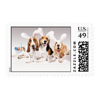 Happy Easter Basset Postage