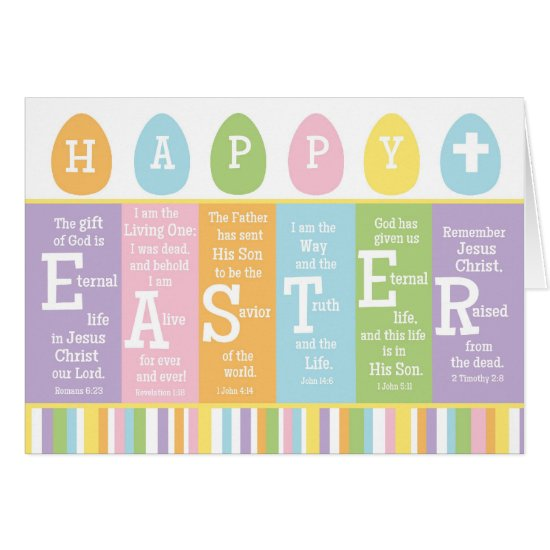 Happy Easter Bible Verse Card-Personalize Inside! Card