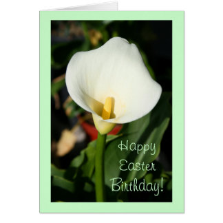 Happy Easter Birthday Cana Lily greeting card